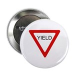 """Yield Sign - 2.25"""" Button (100 pack)"""