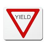 Yield Sign - Mousepad