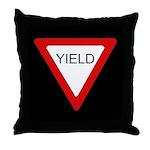 Yield Sign - Throw Pillow
