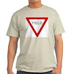 Yield Sign - Ash Grey T-Shirt