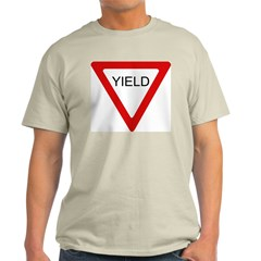 Yield Sign - Ash Grey T-Shirt