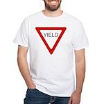 Yield Sign - White T-Shirt