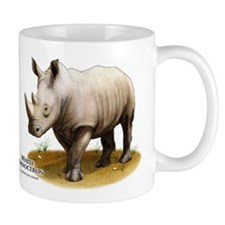 White Rhinoceros Small Mug