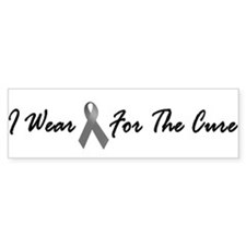 I Wear Grey For The Cure 1 Bumper Car Sticker