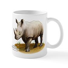 White Rhinoceros Small Mug