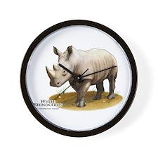 White Rhinoceros Wall Clock