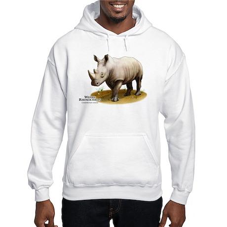 White Rhinoceros Hooded Sweatshirt