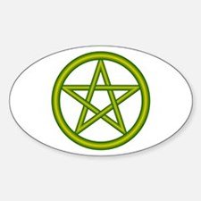 Dragon Green Pentagram Oval Decal
