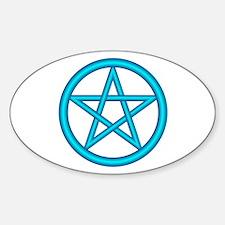 Water Element Pentagram Oval Decal