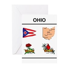 stae of ohio design Greeting Cards (Pk of 20)