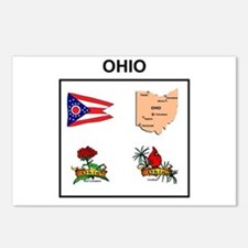 Stae Of Ohio Design Postcards (package Of 8)