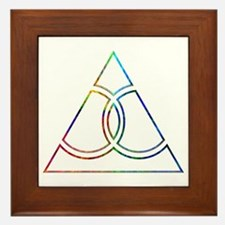 Gay Marriage Triangle Framed Tile