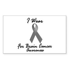 I Wear Grey For BC Awareness 1 Rectangle Decal