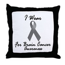 I Wear Grey For BC Awareness 1 Throw Pillow