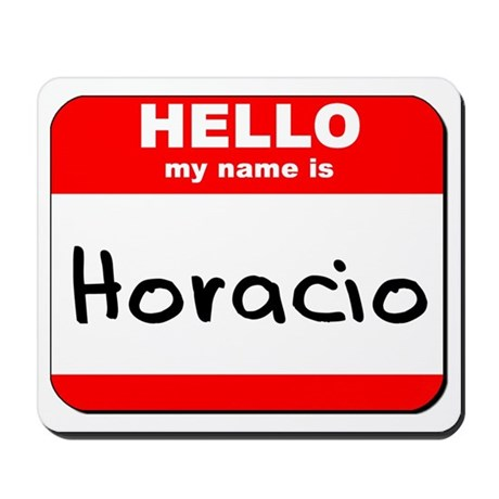 Hello my name is Horacio Mousepad