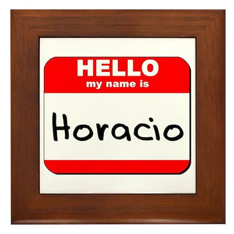 Hello my name is Horacio Framed Tile