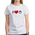 I Love Penguins Women's T-Shirt