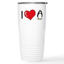 I Love Penguins Travel Mug