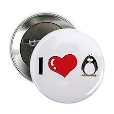 "I Love Penguins 2.25"" Button"