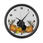 Happy Thanksgiving Large Wall Clock