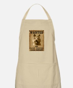 """""""Wanted"""" Cairn Terrier BBQ Apron"""