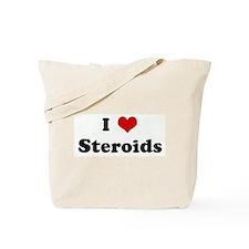 I Love Steroids Tote Bag