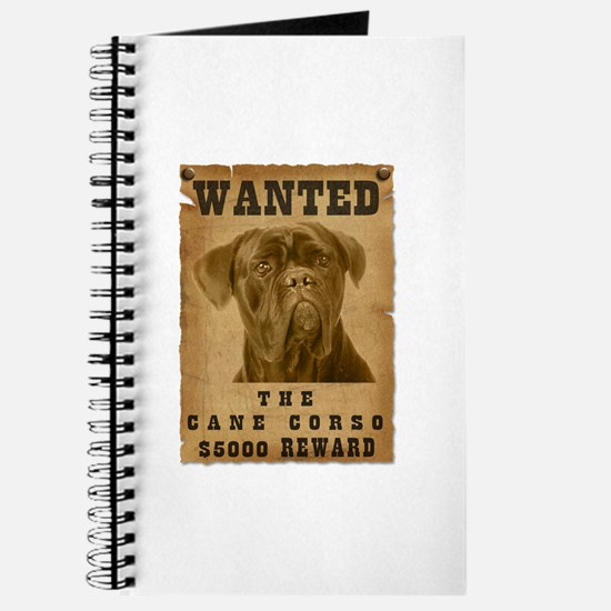 """Wanted"" Cane Corso Journal"