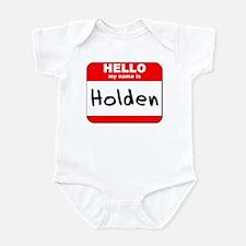 Hello my name is Holden Infant Bodysuit