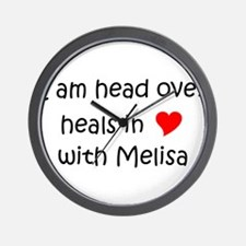 Unique I love melisa Wall Clock