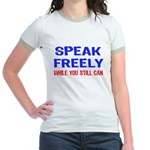 SPEAK FREELY Jr. Ringer T-Shirt