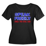 SPEAK FREELY Women's Plus Size Scoop Neck Dark T-S