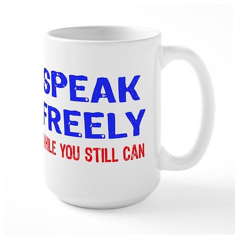 SPEAK FREELY Large Mug