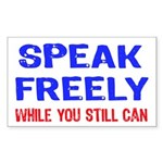 SPEAK FREELY Rectangle Sticker 10 pk)