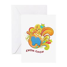 Groovy Chow Chow Greeting Card