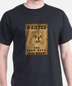 """""""Wanted"""" Chow Chow T-Shirt"""