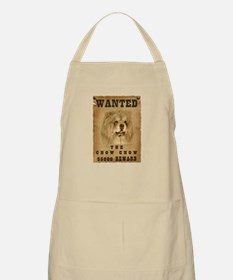 """""""Wanted"""" Chow Chow BBQ Apron"""