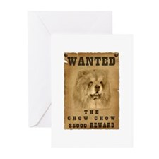 """""""Wanted"""" Chow Chow Greeting Cards (Pk of 20)"""