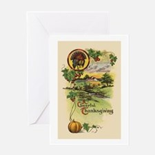 Vintage Thanksgiving Tom Turkey Greeting Card