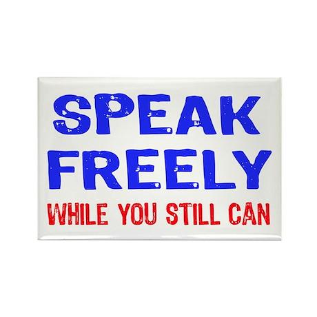 SPEAK FREELY Rectangle Magnet (10 pack)