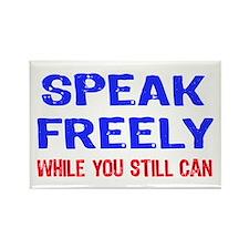 SPEAK FREELY Rectangle Magnet