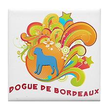 Groovy Dogue de Bordeaux Tile Coaster