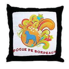 Groovy Dogue de Bordeaux Throw Pillow