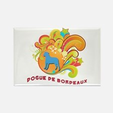 Groovy Dogue de Bordeaux Rectangle Magnet