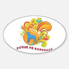 Groovy Dogue de Bordeaux Oval Decal