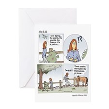 "Mac & Jill ""Posies"" Greeting Card"