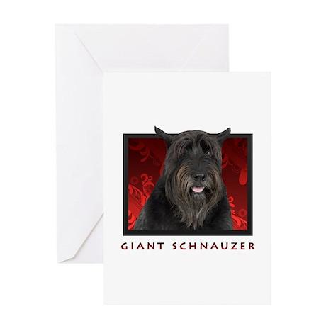 Giant Schnauzer Greeting Card