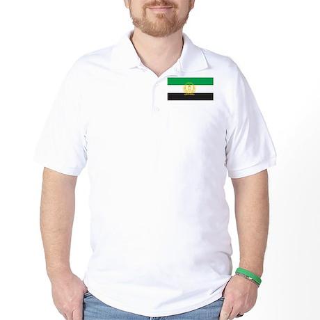 Afghanistan 1992 Flag Golf Shirt