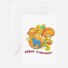 Groovy Great Pyrenees Greeting Card