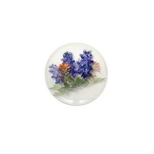 Bluebonnets with Indian Paint Mini Button (100 pac