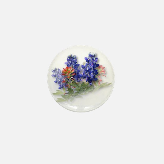 Bluebonnets with Indian Paint Mini Button (10 pack